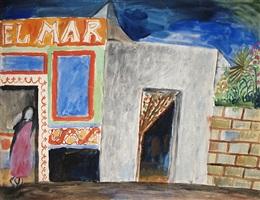 mexiko city, la divia del mar. aquarell und tempera 1924. by max peiffer watenphul