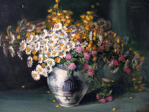 floral still life by frederick grant young