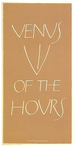 venus of the hours by ian hamilton finlay