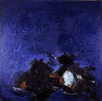 paysage (bleu) by francis bott