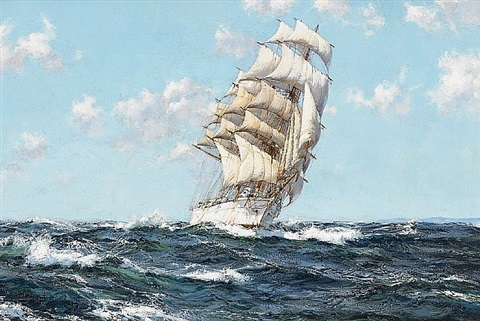 fair winds – the dumbarton rock by montague dawson