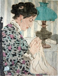 woman sewing by maud hunt squire