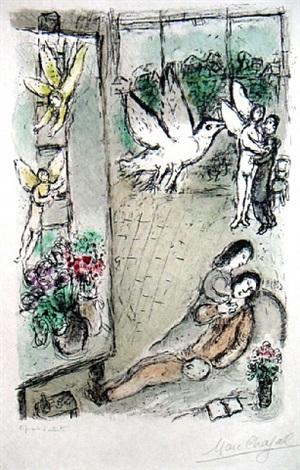 l'oiseau dans l'atelier by marc chagall