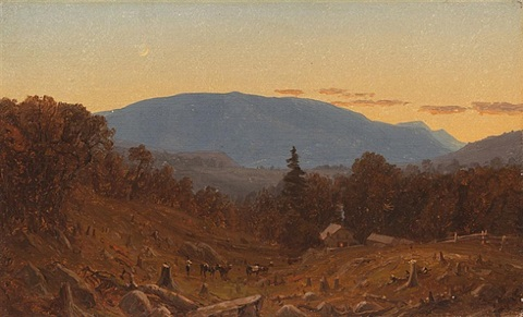 hunter mountain at twilight by sanford robinson gifford