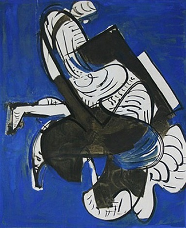 composition in blue by hans hofmann
