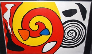 untitled (spirals, red/yellow and black/white) by alexander calder