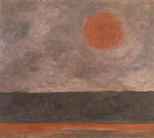 red sun study, i, romasaig by jon schueler