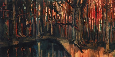 großer wald by rainer fetting