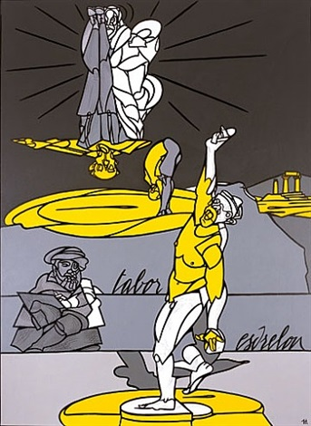 dalla trasfigurazione di raffaello by valerio adami