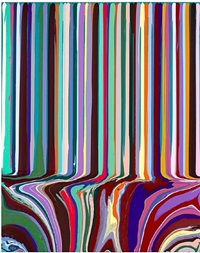 puddle painting: turquoise (after bonnard) by ian davenport