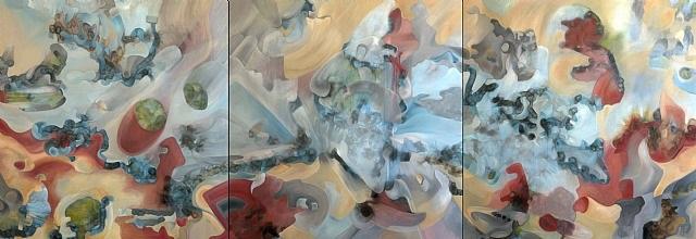 space. expression. x-plosion. (triptych) by antonio muñiz
