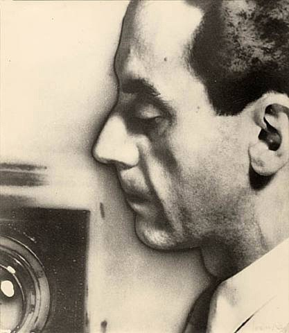 self portrait with view camera by man ray