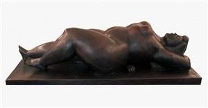 woman resting (donna sdraiata) by fernando botero