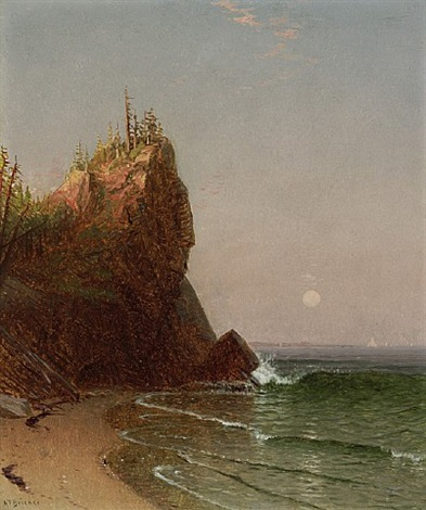 cliffs at mount desert by alfred thompson bricher