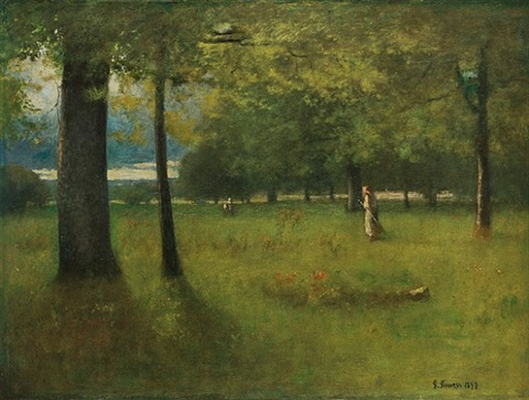 the greenwood by george inness