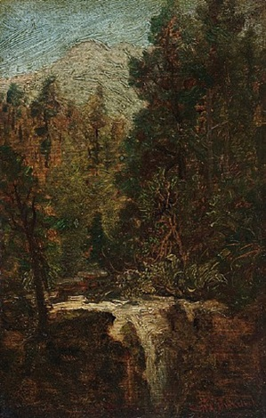 woodland waterfall by ralph albert blakelock