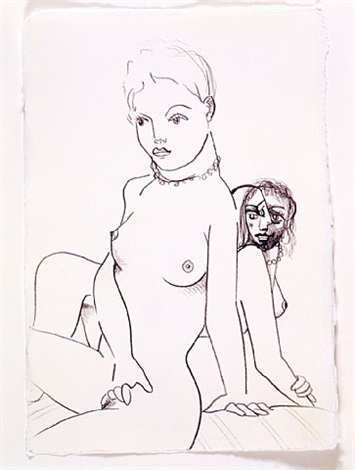 two female models by george condo