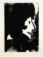 frauenprofil (profile of a woman) by emil nolde