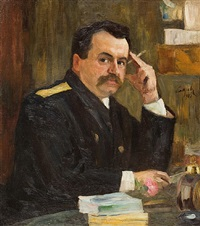 portrait of n. v. muraviev (russian minister of justice in 1894-1905) by valentin aleksandrovich serov