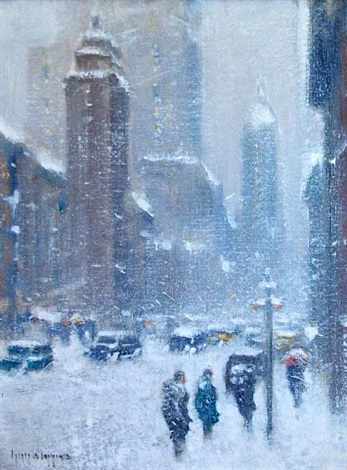 blizzard on lexington, ny by guy carleton wiggins