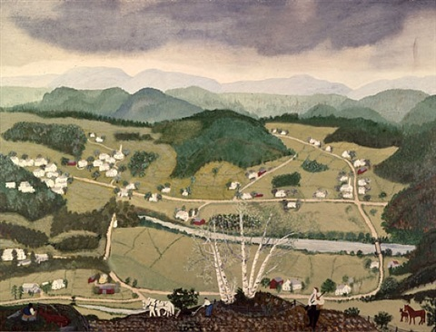 cambridge and valley © grandma moses properties co., new york by grandma moses