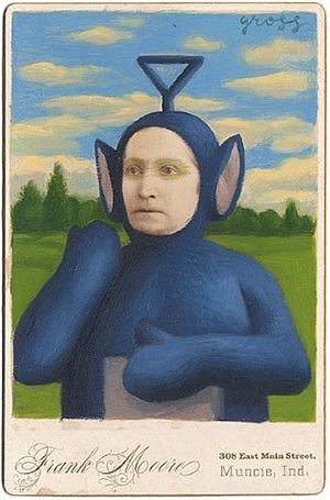 untitled (teletubby) by alex gross