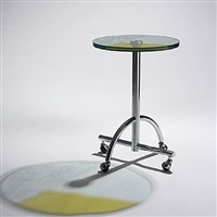 sally round rolling table by shiro kuramata