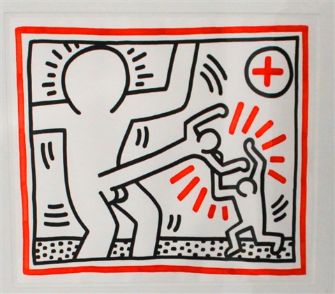 untitled from three lithographs by keith haring