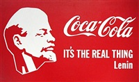 coca-cola it's the real thing-lenin by alexander kosolapov