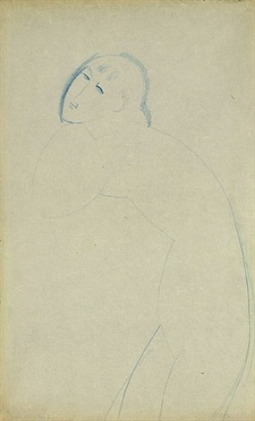blue caryatid (recto) by amedeo modigliani