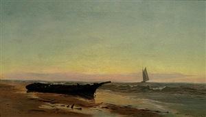 sunset shoreline by warren w. sheppard