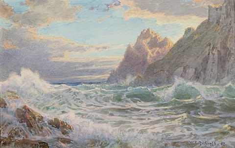 a rocky coast by william trost richards