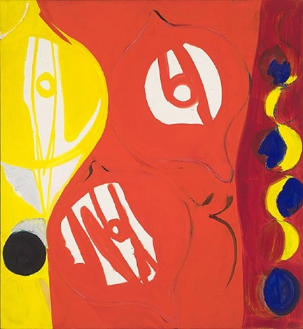 red in red ii by ernst wilhelm nay