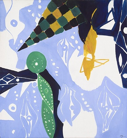 blue diaphan by ernst wilhelm nay