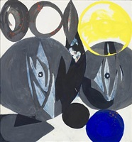 spindels in gray by ernst wilhelm nay