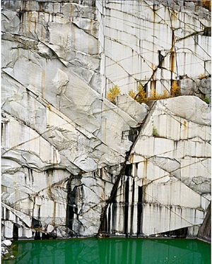 rock of ages # 4, abandoned section, adam-pirie quarry, barre, vermont by edward burtynsky
