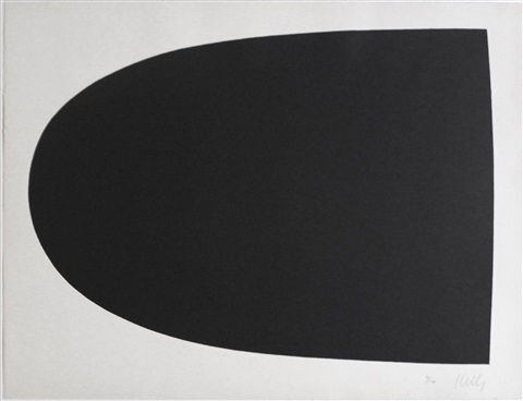 black form from portfolio 9 by ellsworth kelly