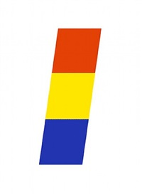 red-orange, yellow, blue by ellsworth kelly