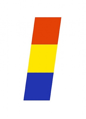 red-orange, yellow, blue by ellsworth kelly
