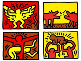 pop shop iv - series of 4 prints by keith haring