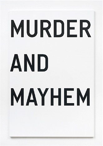 untitled (murder and mayhem) by rirkrit tiravanija