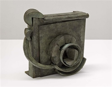 """small bronze """"doxy"""" by sir anthony caro"""
