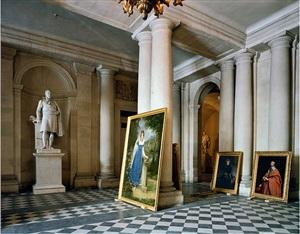 vestibule, (73) ami.01.009, salles empire, aile du midi - r.d.c, château de versailles, france by robert polidori