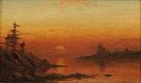twilight on the coast of maine by charles henry gifford
