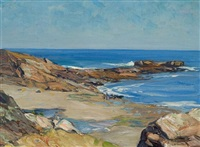 perkins cove, ogunquit maine by charles herbert woodbury