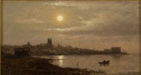 view of fairhaven harbor by charles henry gifford