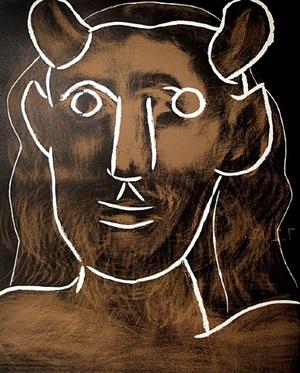 tête de faune (head of a faun) by pablo picasso