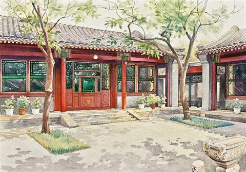 the residence of peking opera maestro mei lanfang by zhang weizhi