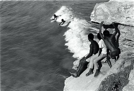 children body surfing off the western cape coast by cedric nunn