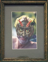 masked self-portrait by charles marsh